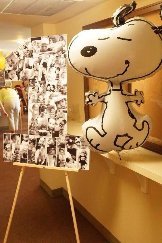 O balão do Snoopy fica super bacana na decoração. (Foto: Divulgação)                                                                                                                                                                                 Mais