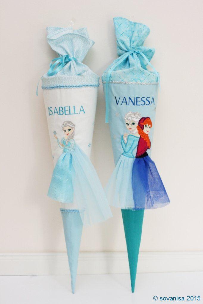 Sovanisa: Eiskönigen Schultuten mit Elsa und Anna nähen
