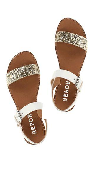 sparkle sandals. (Knock offs at Target! Get them nowwwww! I got every color! Haha)
