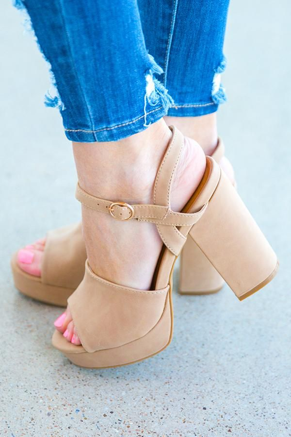 0b0ab0ee818c Beverly Hills Hottie Heel in Khaki | Shoes | Heels, Fashion, Palm ...