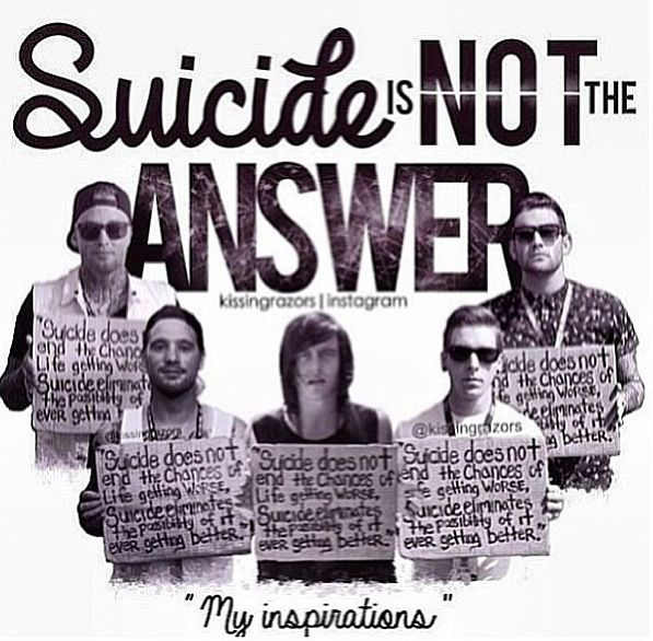 suicide is not the answer and I remember the first time a client of mine said that to me it was 16 hours after her son died, and i had walked into her room to check on her.