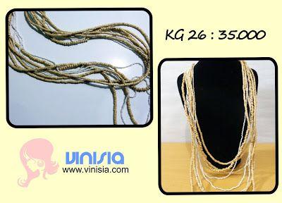 Belanja Aksesoris Wanita Online: [KG 026] kalung tumpuk kayu
