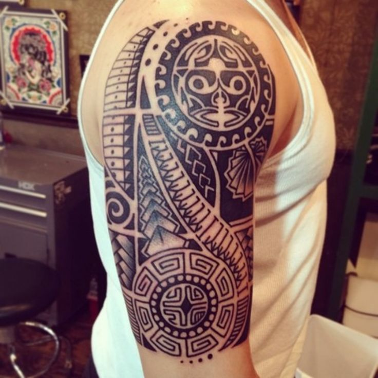 Maori Tattoo Design Wallpaper Wp300369: 25+ Best Ideas About Polynesian Tattoo Sleeve On Pinterest