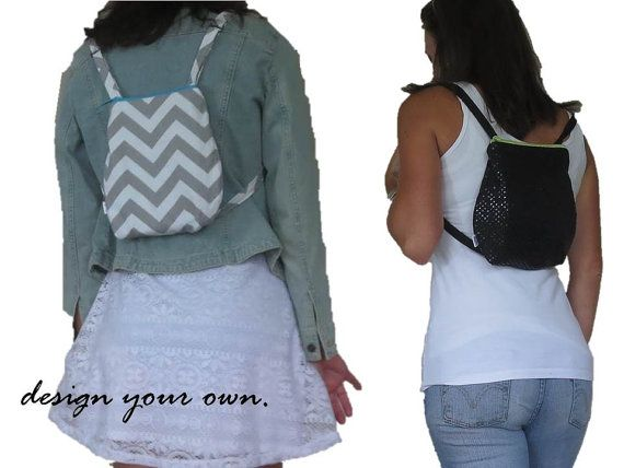 small backpack. design your own chevron, sequins, polka dots, suede, and more. Adjustable straps for mini backpack.