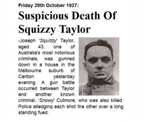 Squizzy Taylor - 1927 #twistedhistory #melbournemurdertours #ghosttours #geelonggaolghosttours #beechworthghosttours #murder #crime #squizzytaylor