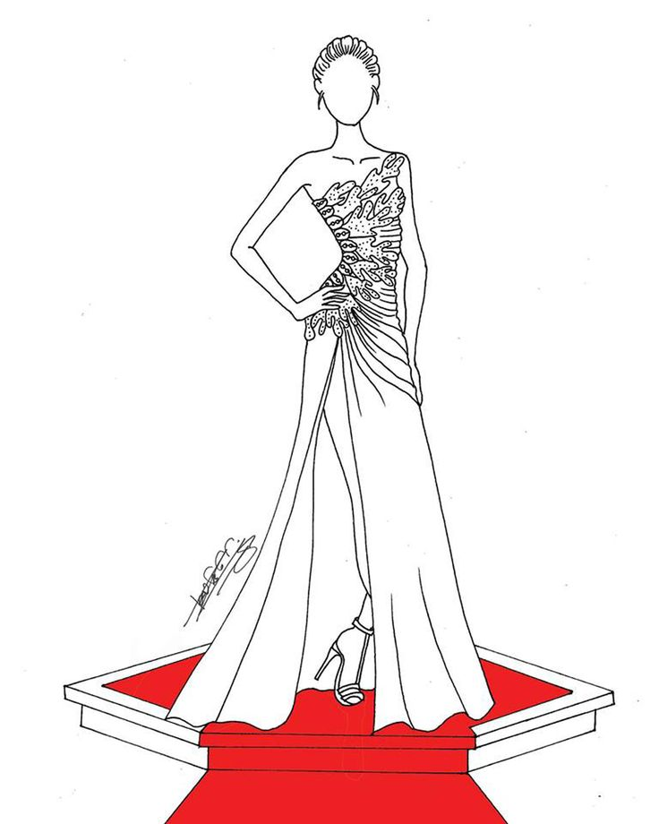 Design from BERNADETTE Fashion coloring book vol 9