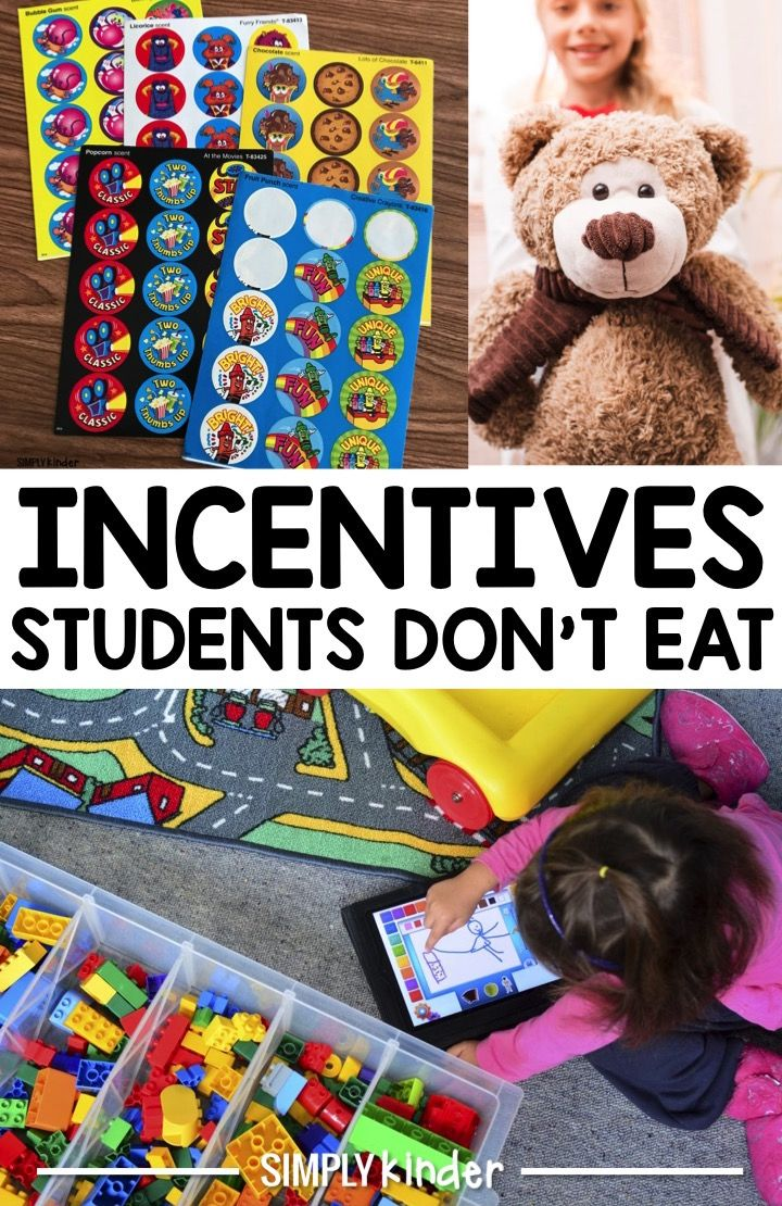 A list of non-food student incentives to motivate your students.  These incentives students don't eat will help your students to stay healthy and keep them motivated to learn.