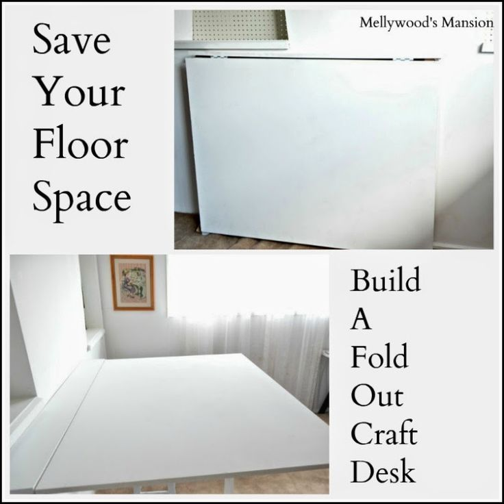 Archies Room   Donu0027t Have Any Space But Want A Big Craft Desk? Build Your  Own Fold Out Desk, Use It When You Need It And Fold It Away When Youu0027re  Done.