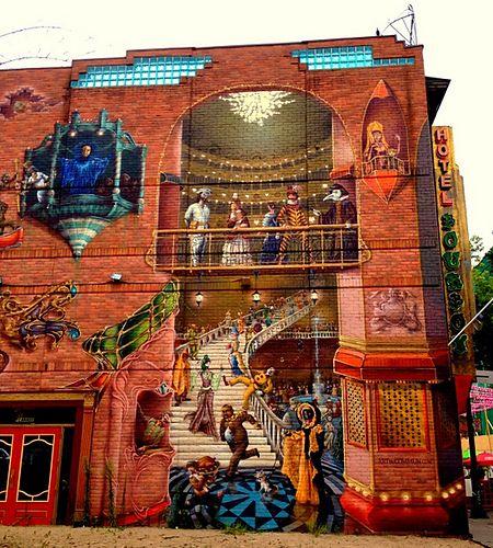 Montreal building street art