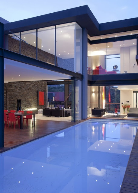 Incredible Home Design | Incredible Pictures (What was that about stones and glass houses - though these look very secure!)