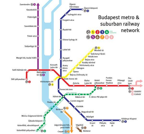 Aktualni Mapa Metra V Budapesti Cestovanie Madarsko