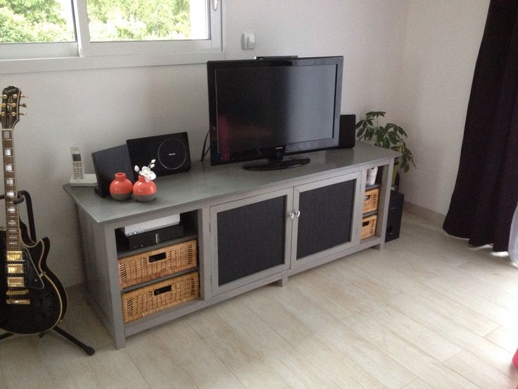 25 best meuble tv gris ideas on pinterest - Meuble gris anthracite ...