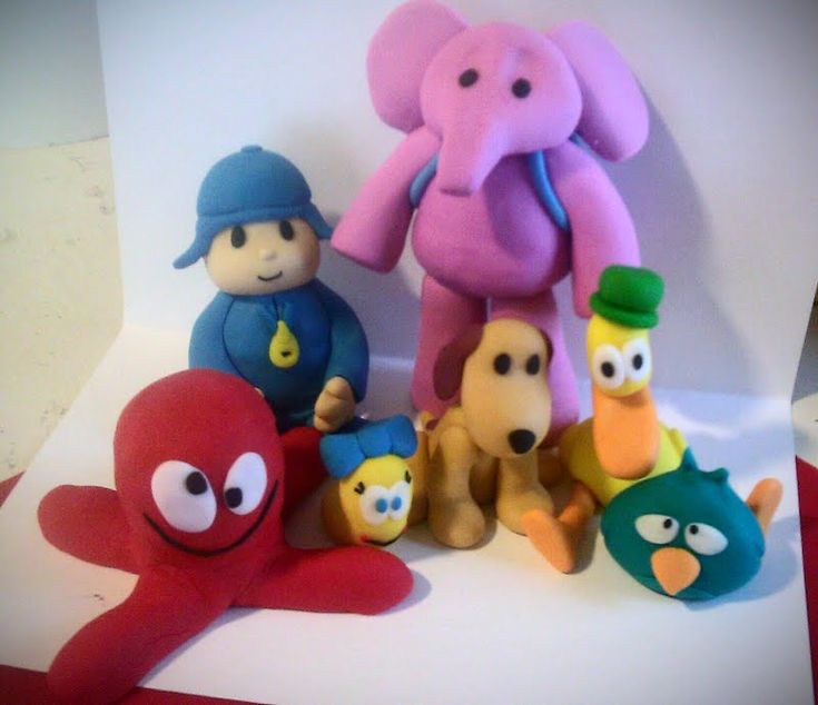 Pocoyo Inspired Cake Toppers (7 figures)  $48