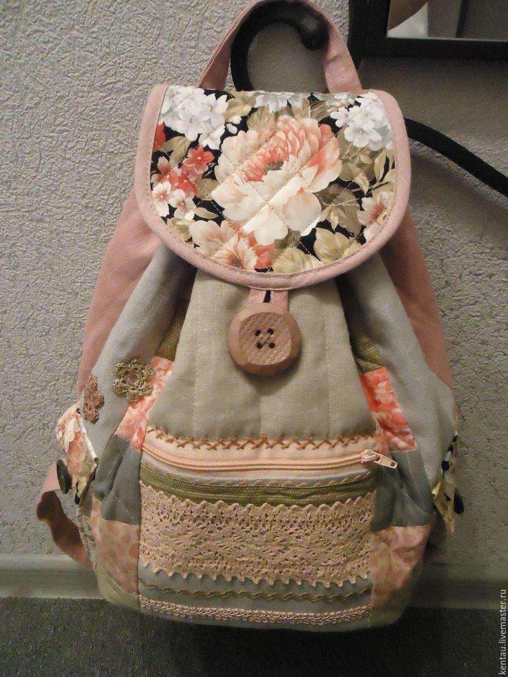 """Купить Рюкзак """"Цветочный нежный"""" - розовый, рюкзак, текстильный рюкзак, женский рюкзак, купить рюкзак"""