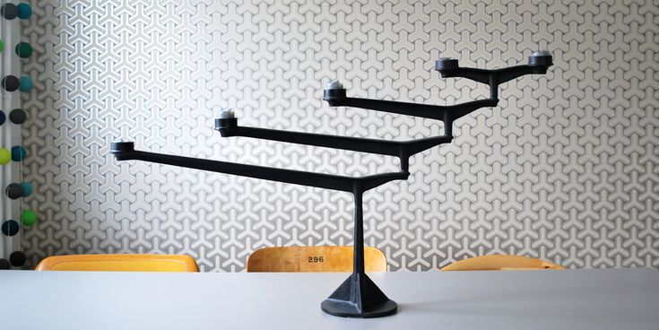 spin table candelabra by Tom Dixon