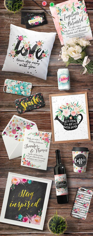 20%Off-Watercolor DIY pack Vol.4/Wedding/Clip art by GraphicSafari