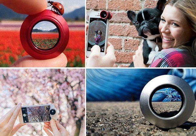 Cansado de tirarfotos sempre tão iguais com seu telefone? Para quem gosta de fotografia, a ideiade mudar as lentes da câmera sempre abre novas possibilidades e permite soltar ainda mais a imaginação na hora de compor imagens. É isso que propões o OlloclipMacro, um sistema de lentes de aumento para seu smartphone. A ideia lembra um pouco o case para iPhone que traz 5 lentes novas para o celular, com a diferença de aqui as três lentes macro oferecem um aumento de 7, 14 e 21 vezes nas…