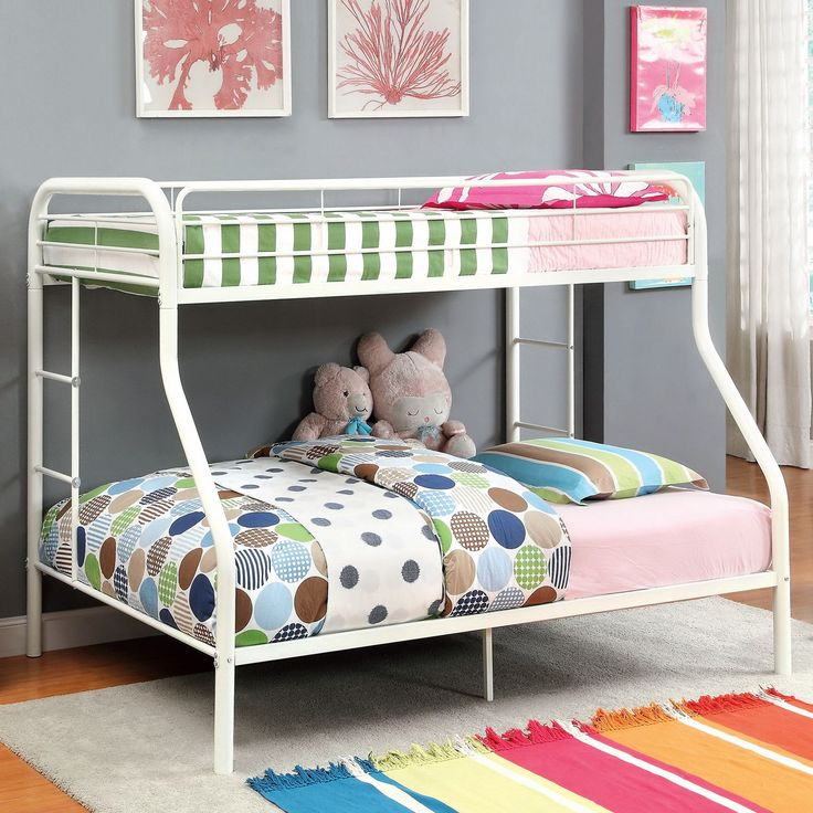 Furniture of America Linden Twin Over Bunk Bed