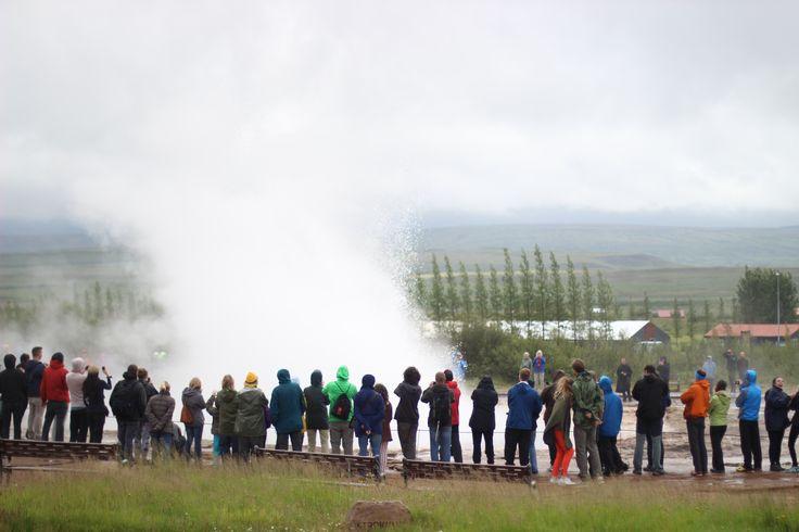 The geysers on Iceland - 2014  #geyser #Iceland