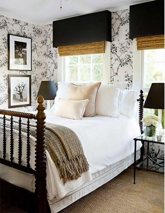 A Romantic Guest Room - Ralph Lauren Home's Ashfield Floral wallpaper turns