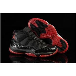 Authentic Nike Shoes For Sale Air Jordans 11 XI Snakeskin Black Red 2013  [Men Air Jordans -