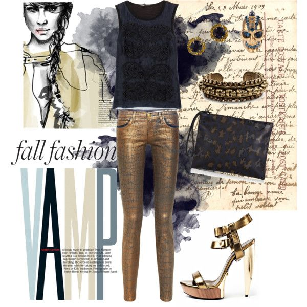 """""""Copper and Navy"""" by nataliacg on Polyvore"""