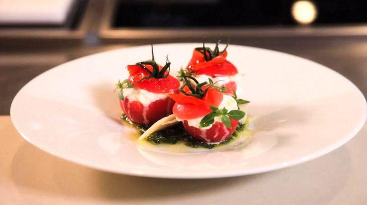 Tomates, mozzarella, basilic par Alain Ducasse
