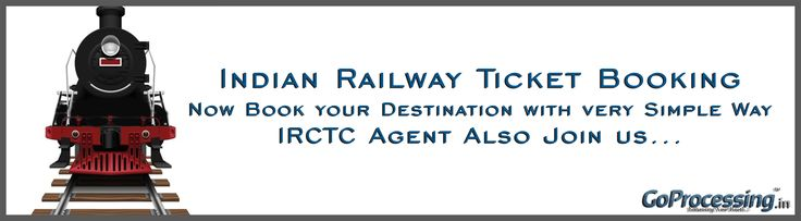 #Railway #Ticket #Booking now getting very #easy with Go Processing   #India's #Leading #Aggregator #Company to #provide #Online #Pyment #Service for Online #Railway #Ticket #Booking, Online #Air Ticket Booking, Online #Bus Ticket Booking and lots of more...  so connect with us just dial 011-66662323 or visit at https://www.goprocessing.in/