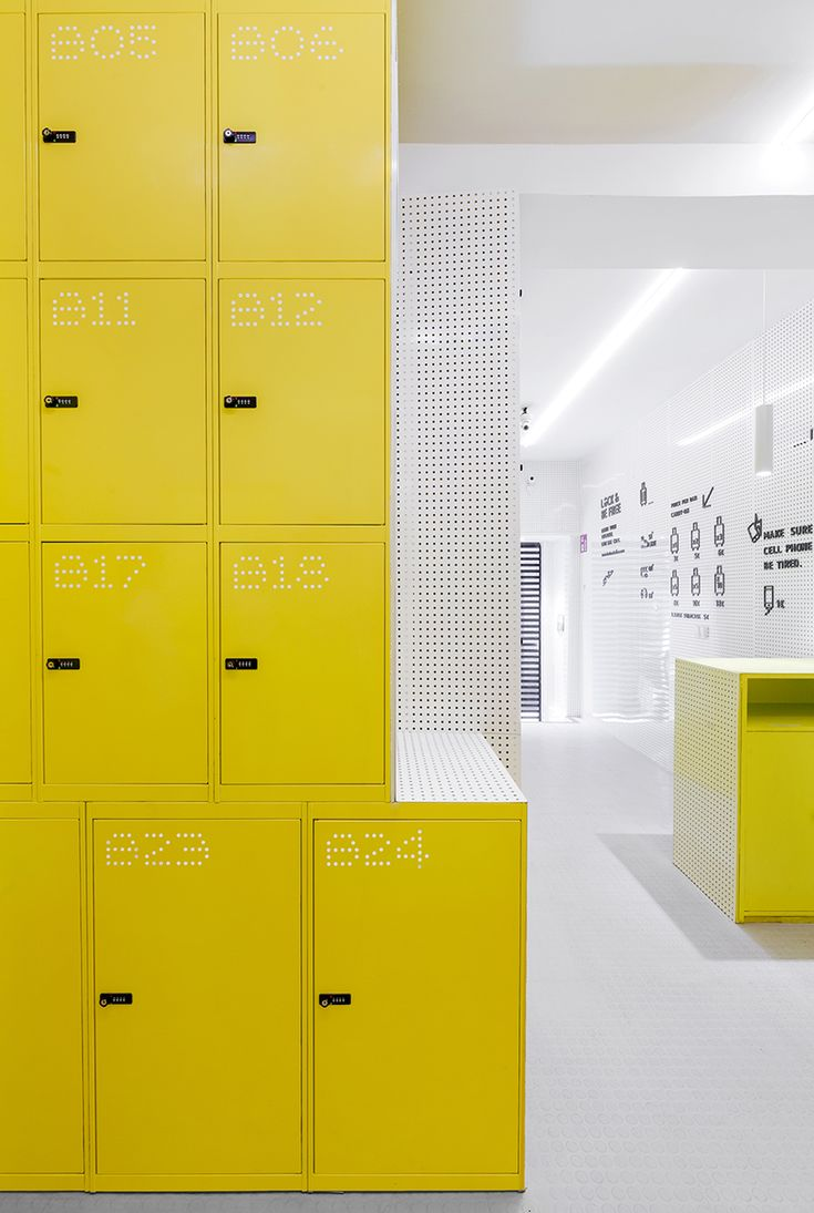 wanna one shapes madrid's urban lockers following the 'leave your luggage, live the city' concept