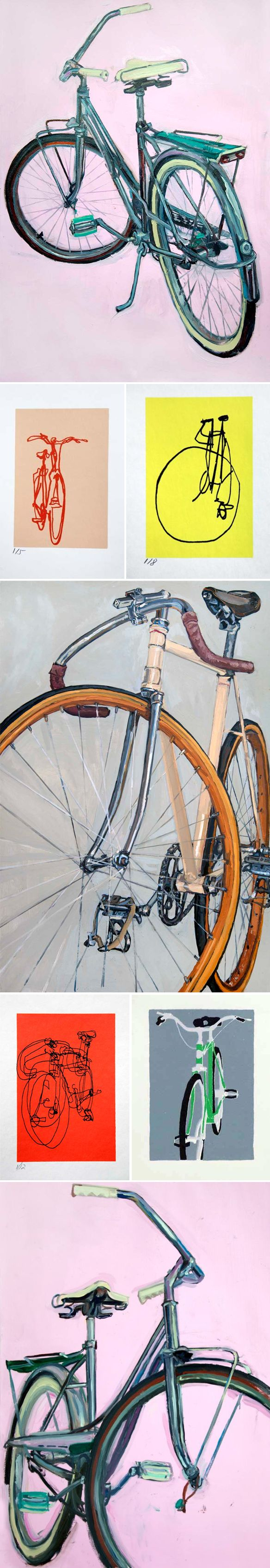 261 Best Bicycle Art Greeting Cards Images On Pinterest Bicycle