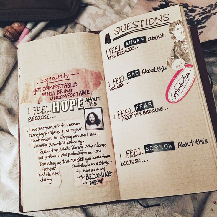 #journalprompt processing emotions #travelersnotebook #journalspread besottment