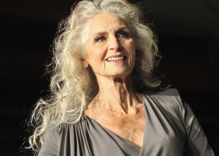 Daphne Selfe, (more than) 80 years model.  Who says older women can't wear long hair?? Beautiful!