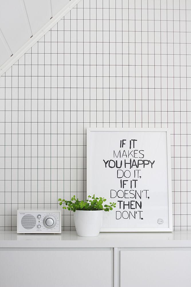 Home office - Ferm Living wallpaper