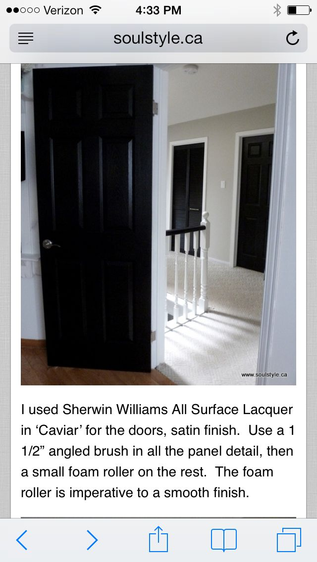 Black Interior Paint For Doors Or Antique Armoire In Entrance · Painting ...
