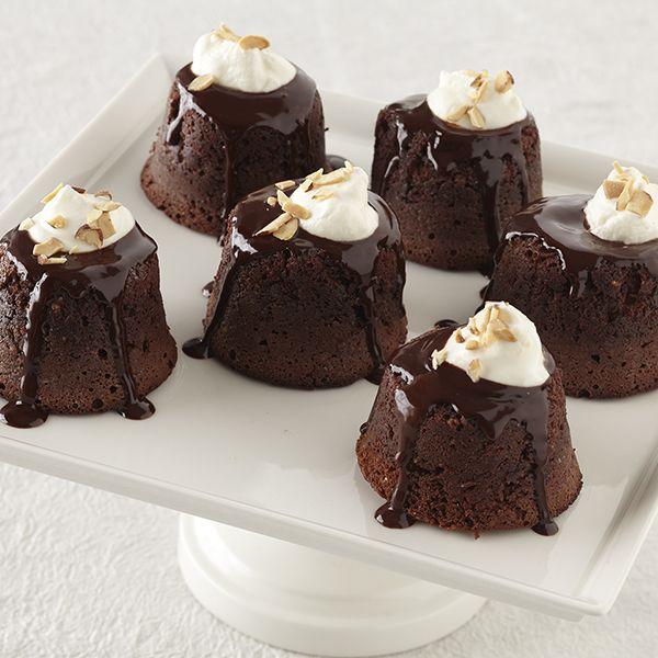 Individual Chocolate Amaretto Lava Cakes