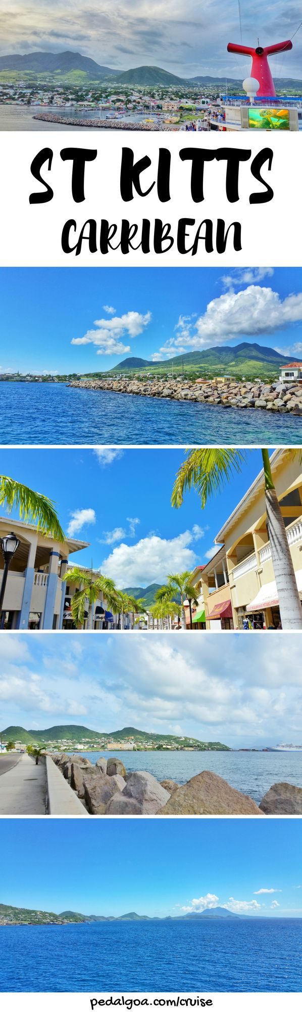 For your Caribbean cruise without excursions, things to do in St Kitts, including taking instagram pictures near St Kitts cruise port. You'll pass near Basseterre for shopping and food. Budget-friendly island activities after you get back from beaches, resorts, or tours! Cruise tips for your Caribbean cruise to St Kitts that might include Grand Turk, San Juan Puerto Rico, St Maarten, Barbados, St Lucia too. Caribbean vacation... #cruise #cruisetips