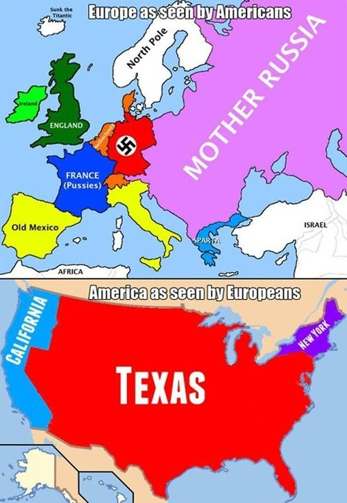 Best Stereotypical Maps Images On Pinterest Funny Stuff - Us vs europe map