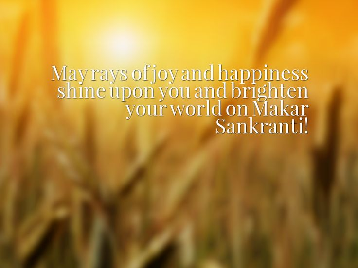 May rays of joy and happiness shine upon you and brighten your world on Makar Sankranti!