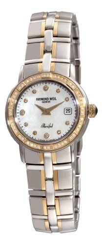 Raymond Weil Women's 9440-STS-97081 Parsifal Two-Tone Mother-Of-Pearl Diamond Dial Watch - $1,124 - SAVE 66%