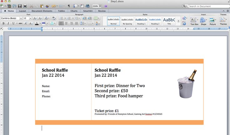 Raffle Tickets Printable Template    wwwkorean1stbirthday - create raffle tickets in word