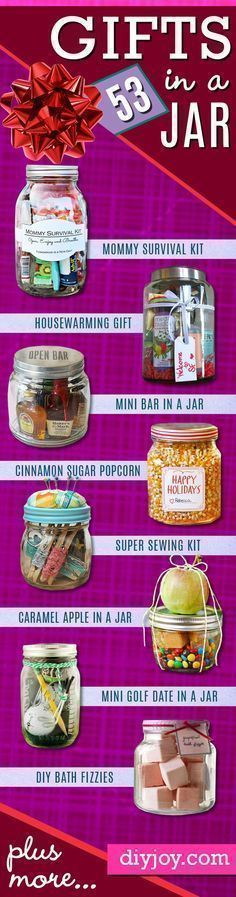 Homemade DIY Gifts in A Jar | Best Mason Jar Cookie Mixes and Recipes, Alcohol Mixers | Fun Gift Ideas for Men, Women, Teens, Kids, Teacher, Mom. Christmas, Holiday, Birthday and Easy Last Minute Gifts http://diyjoy.com/diy-gifts-in-a-jar #ideasforchristmasgiftsforkids #diychristmasgifts #teenbirthdaygifts