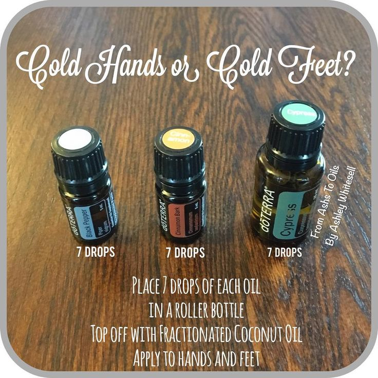 Cold Hands and Feet Blend  Follow me on Instagram: https://www.instagram.com/fromashstooilsbyashley/                                                              Order your oils at: http://mydoterra.com/teamwhitesell