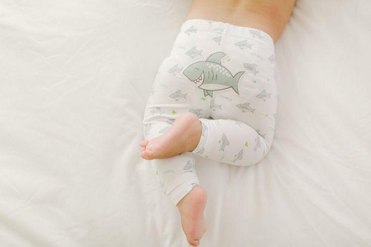 Shark Leggings - #cocomoon #islandinspiredbabygoods #sharks #leggings #momlife #baby