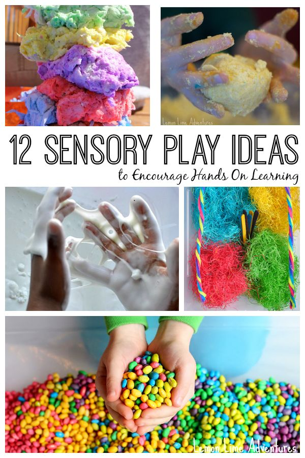 12 Sensory Play Ideas: Messy, Non-Messy, Edible and more! Awesome Ideas