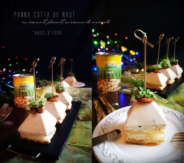 Angel's food: Panna cotta de naut cu creveti picanti si crema de...