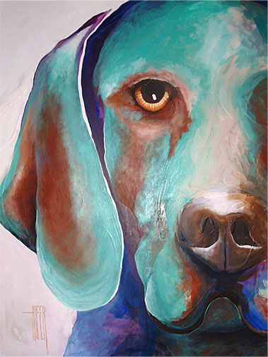 Abstract Dog Paintings