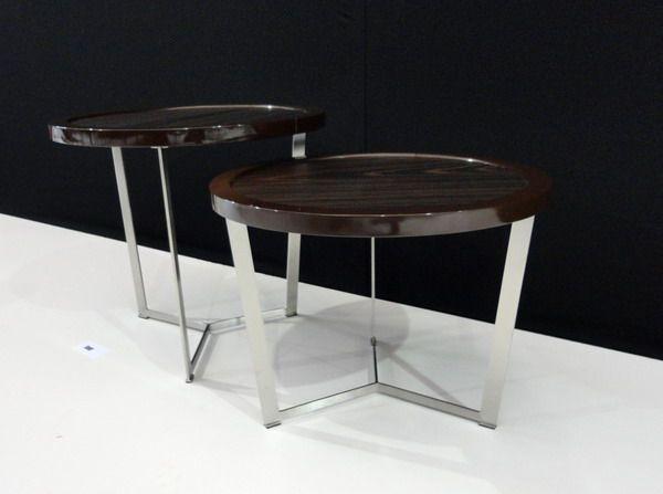 Juego mesas laterales, metal y madera