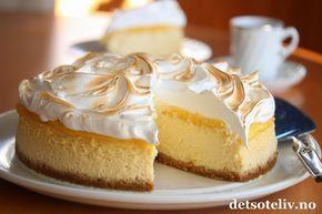 Lemon Meringue Cheesecake (Ostekake med sitronkrem og marengs) | Det søte liv