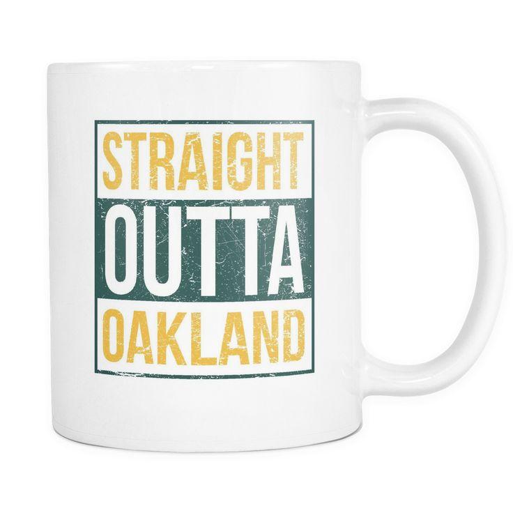 Straight Outta Oakland Baseball Coffee Mug, 11 Ounce