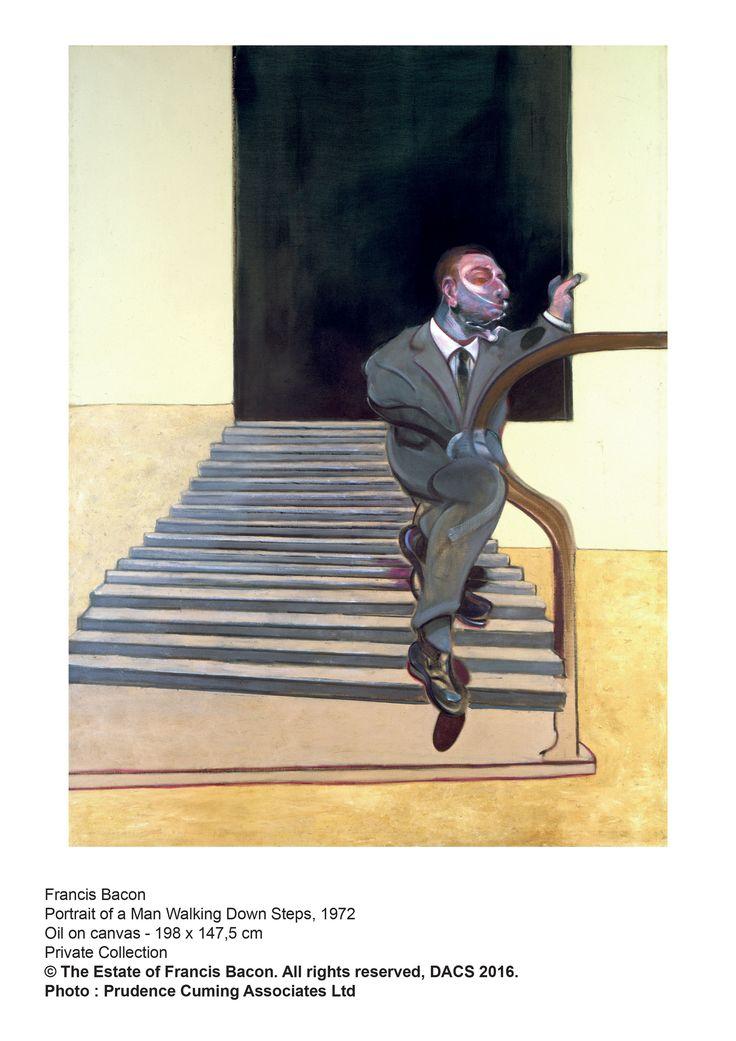 """""""Portrait of a man walking down steps 1972"""" - Exposition Francis Bacon (peintre anglais 1909-1992) au Grimaldi Forum à Monaco du 02.07 au 04.09.2016"""